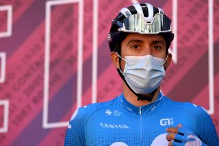 BAGNO DI ROMAGNA ITALY MAY 20 Marc Soler Gimenez of Spain and Movistar Team at start in Piazza del Campo during the 104th Giro dItalia 2021 Stage 13 a 212km stage from Siena to Bagno di Romagna Team Presentation girodiitalia Giro UCIworldtour on May 20 2021 in Bagno di Romagna Italy Photo by Stuart FranklinGetty Images