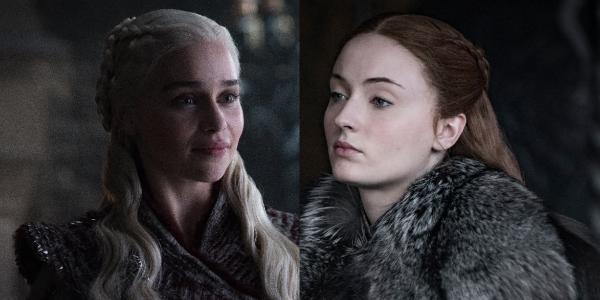 Game of Thrones Daenerys Targaryen Emilia Clarke Sansa Stark Sophie Turner HBO