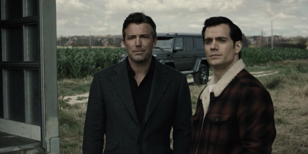 Ben Affleck and Henry Cavill in Zack Snyder's Justice League