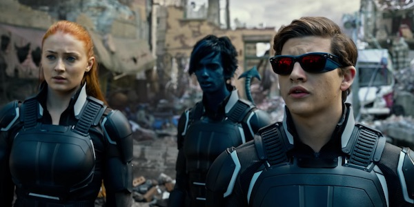 Jean Grey, Nightcrawler and Cyclops in X-Men: Apocalypse