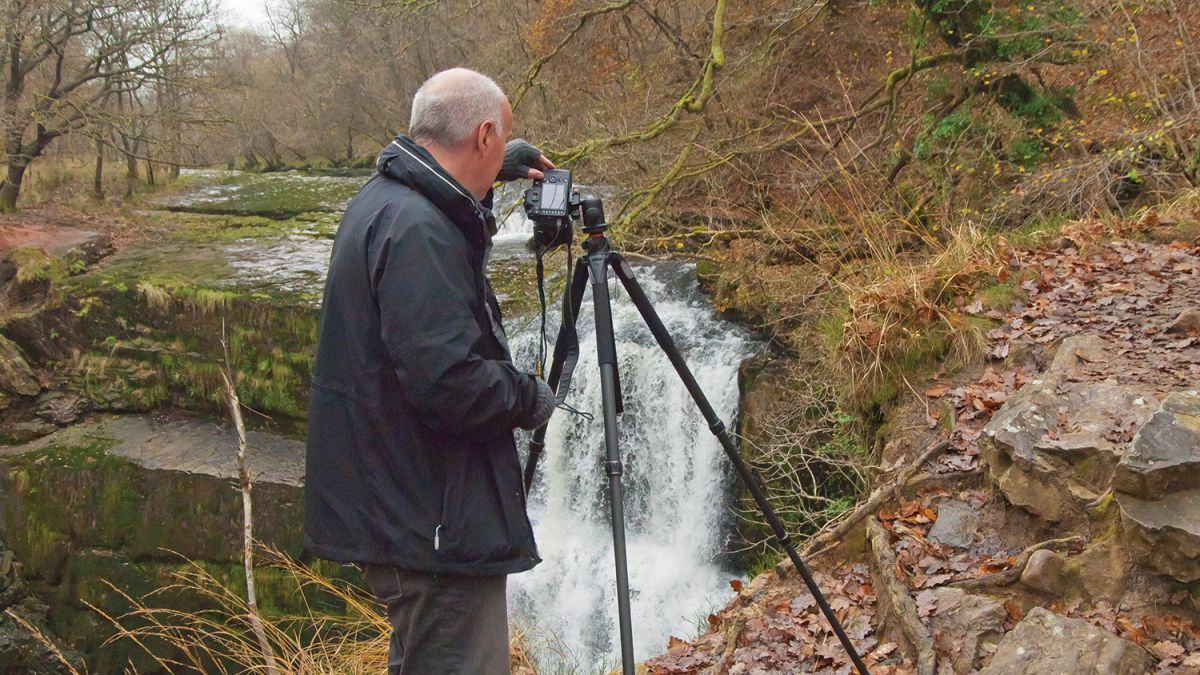 Shoot great waterfall photos by using a slow shutter speed