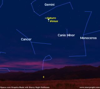 Morning Planets: Saturn and Venus to Converge