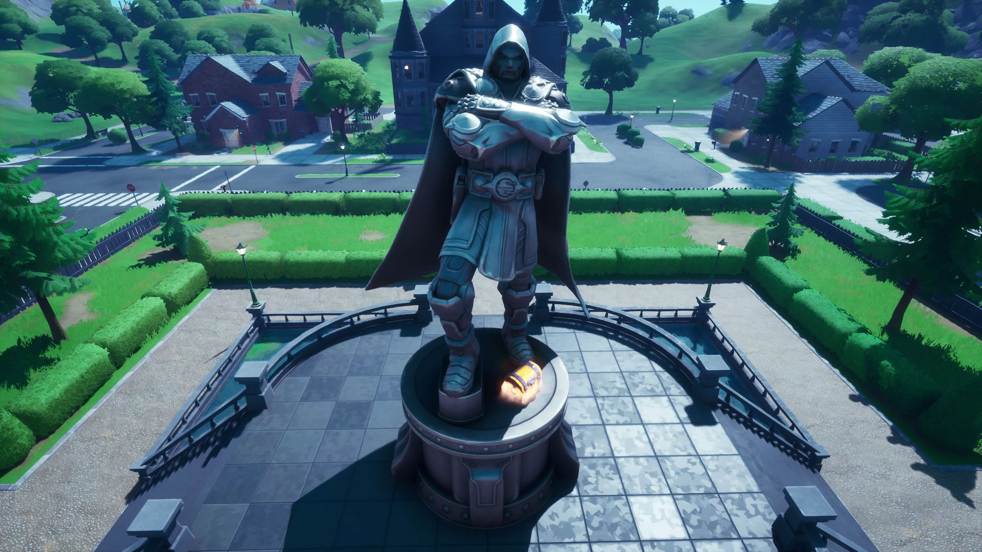 Doom's Domain is the fourth best place to land in Fortnite. (Image: Epic Games)