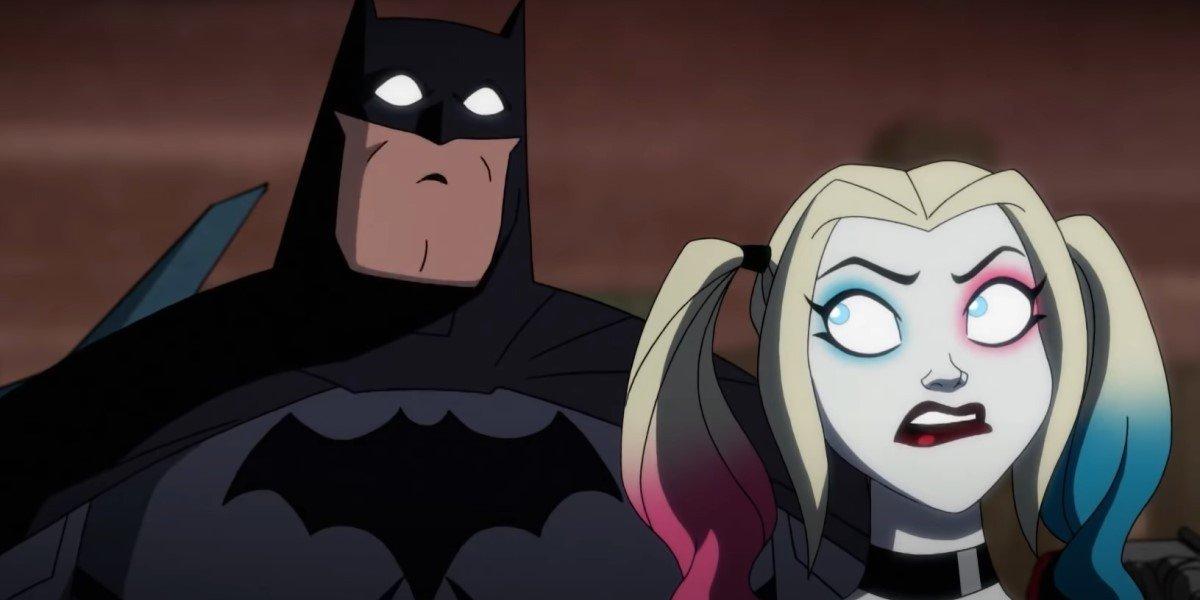 Diedrich Bader as Batman and Kaley Cuoco as Harley Quinn on Harley Quinn