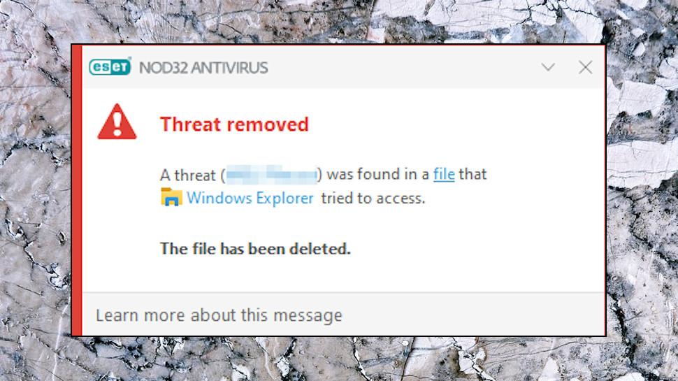 NOD32 Ransomware Blocked