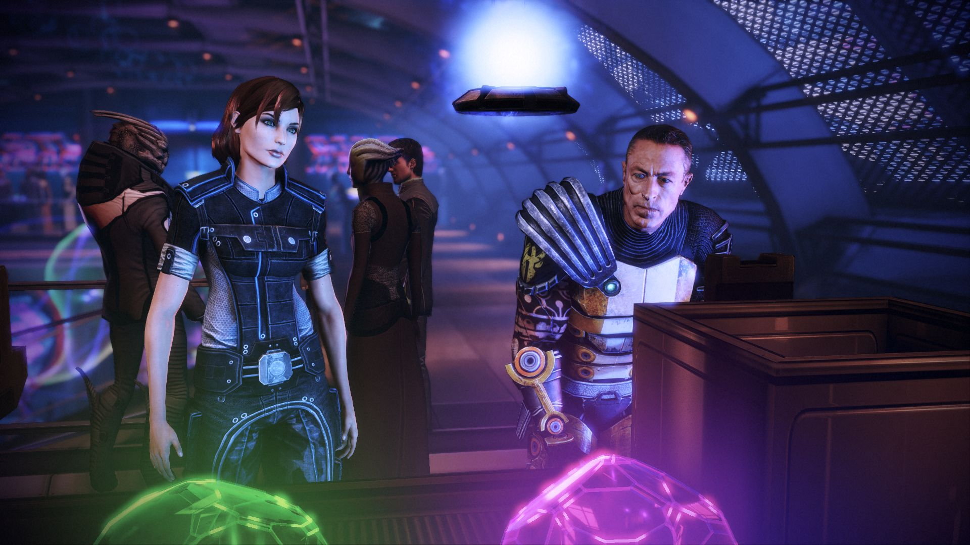 Playing a claw machine in Mass Effect 3's Citadel DLC