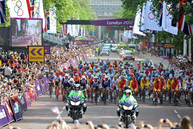 Start, London 2012 Olympic men's road race