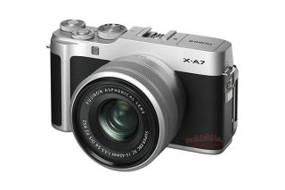 Fujifilm X-A7 images leak out, showing huge LCD and AF lever 1