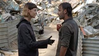 Jadis and Rick Grimes in The Walking Dead