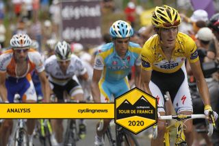 andy schleck and alberto contador at tour de france 2010
