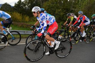 Guillaume Martin (Cofidis) took enough points towards the mountains classification in the breakaway on stage 15 of the 2020 Vuelta a España to secure the blue-and-white polka-dot jersey three days before the finish in Madrid