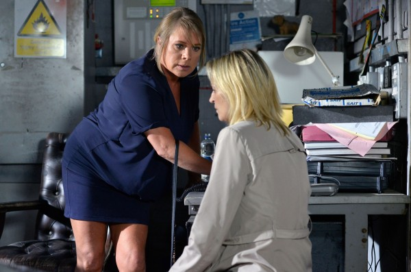 EastEnders' Kathy Beale and Sharon Mitchell (BBC Pictures)
