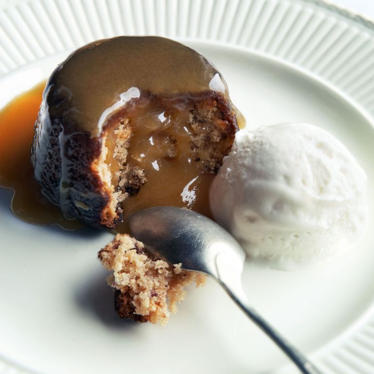 Salty sticky toffee pudding photo