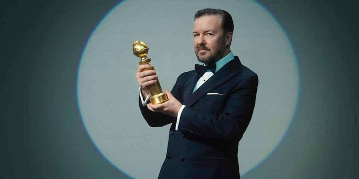 golden globes 2020 ricky gervais photo courtesy of NBC