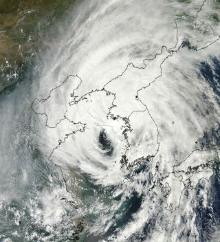 Tropical Storm Bolaven from space.