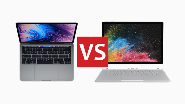 Apple Macbook Pro 2018 Vs Microsoft Surface Book 2 Head To Head T3