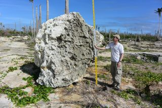 Super Typhoon Haiyan moved this large limestone boulder on Calicoan Island in Eastern Samar in the Philippines.