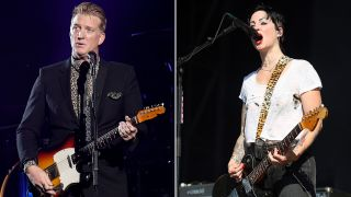 [L-R] Josh Homme and Brody Dalle