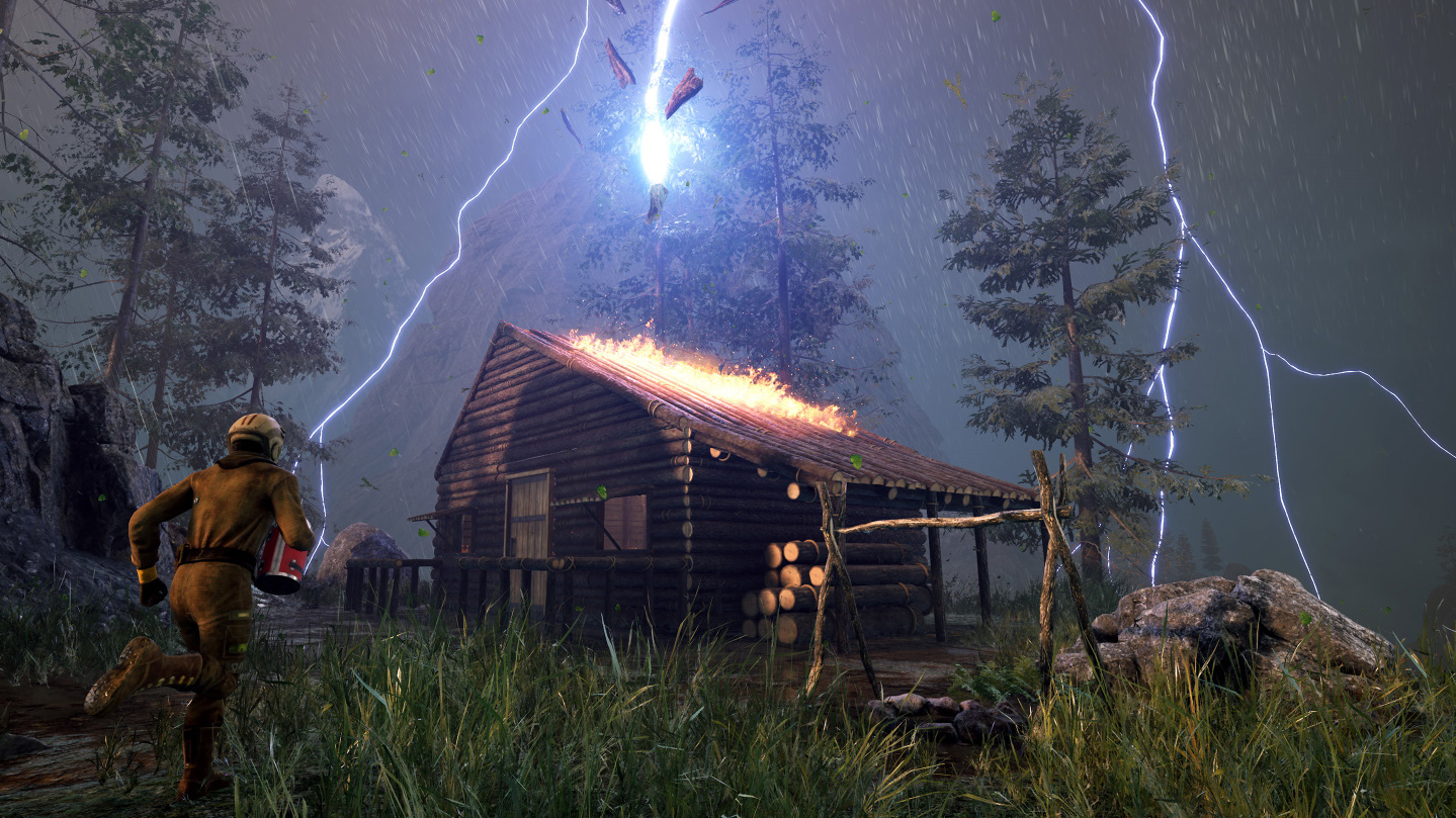 An hour with survival game Icarus: forest fires, terrifying storms, and 'freaked out' bears