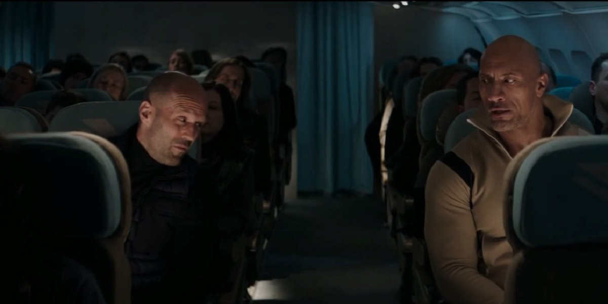 Jason Statham and Dwayne Johnson in Hobbs and Shaw