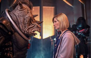 Jodie Whittaker's Time Lord faces the Judoon in Doctor Who