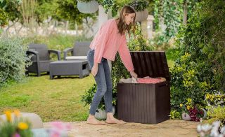 Garden storage box on sale at Wickes