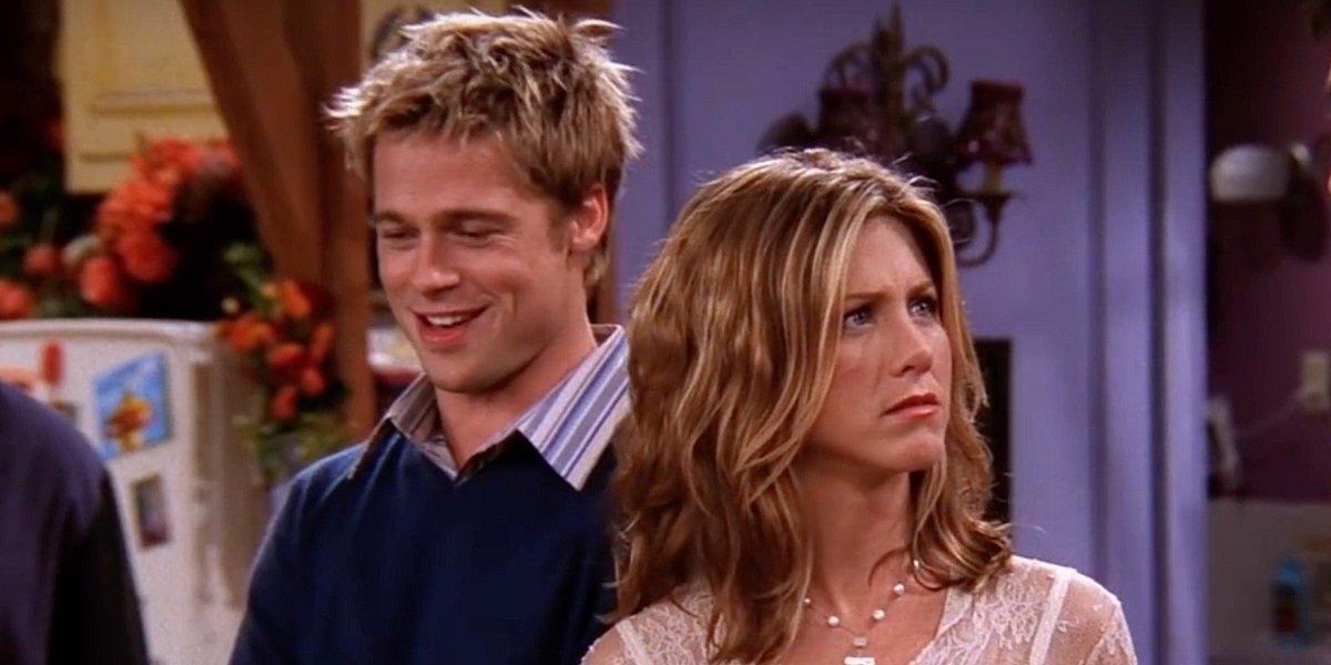 Brad Pitt and Jennifer Aniston on Friends