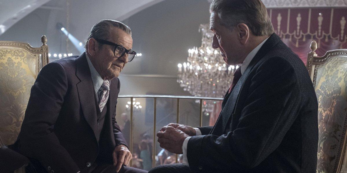 Pesci and De Niro talk in The Irishman