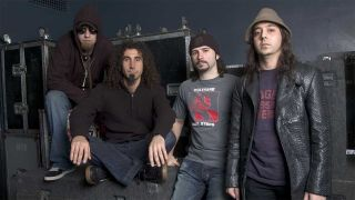 System Of A Down standing in a line