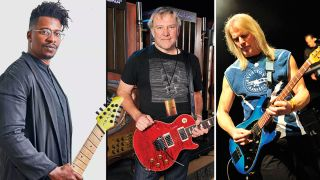 Tosin Abasi, Alex Lifeson, and Steve Morse