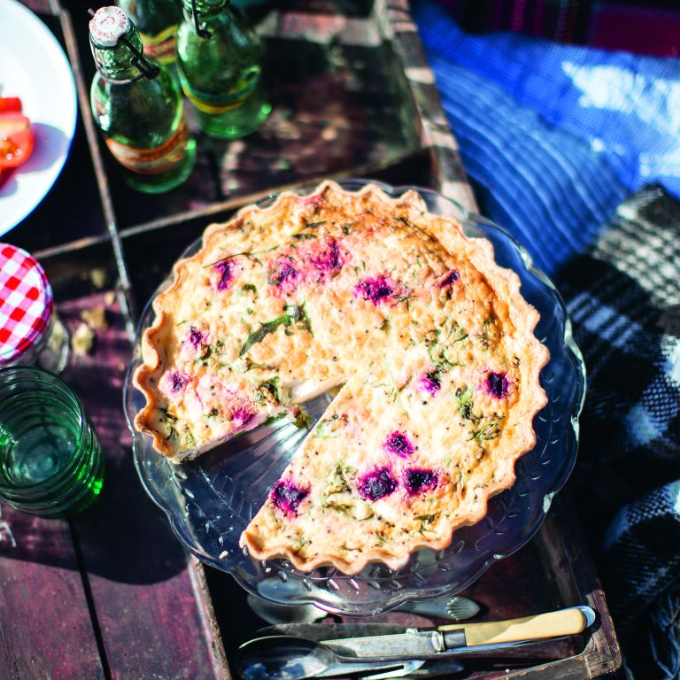 Photo of beetroot quiche