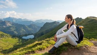 woman hiker enjoying the views