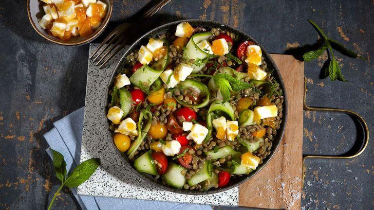 lentil salad: puy lentil salad