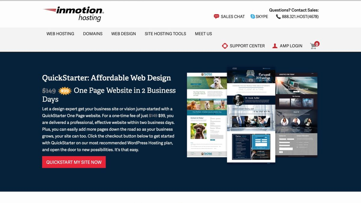 Inmotion Quickstarter Website Builder Review Techradar