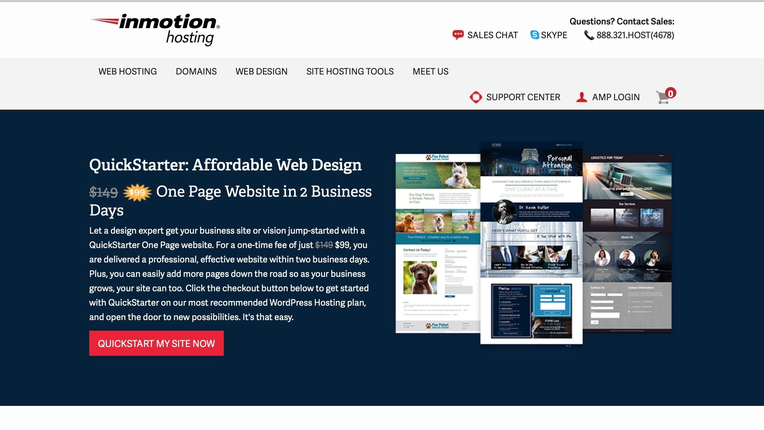 Inmotion QuickStarter website builder review | TechRadar