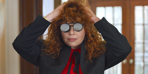 natasha lyonne in x-ray glasses for netflix's russian doll