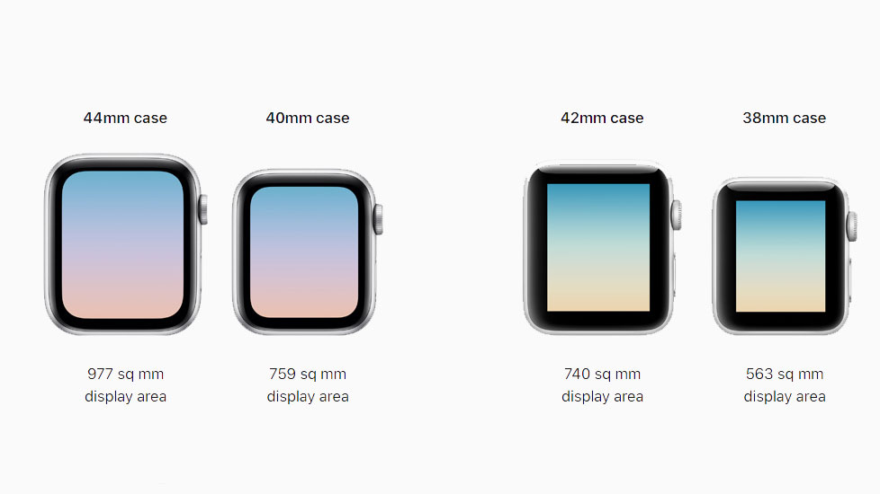 Apple Watch 4 on the left and Apple Watch 3 on the right (Image Credit: Apple)