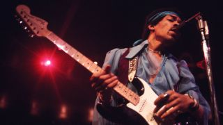Jimi Hendrix with Strat
