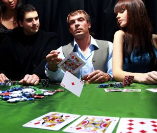 People playing poker.