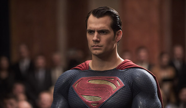 Superman standing in front of committee