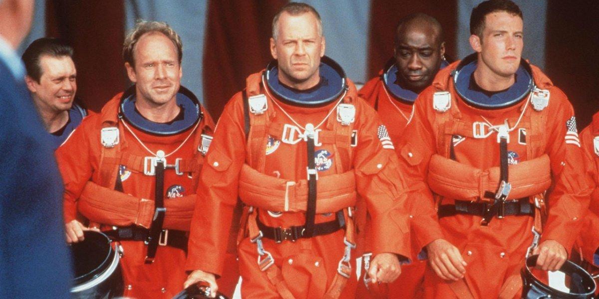Bruce Willis in Armageddon.