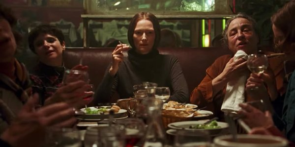 Suspiria Tilda Swinton Blanc at dinner table with other witches
