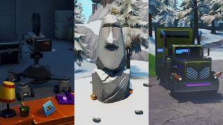 Fortnite film camera, stone head, and gold big rig locations