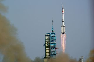 Launch of Shenzhou 9 on June 16, 2012.