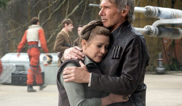 Star Wars; The Force Awakens Leia and Han