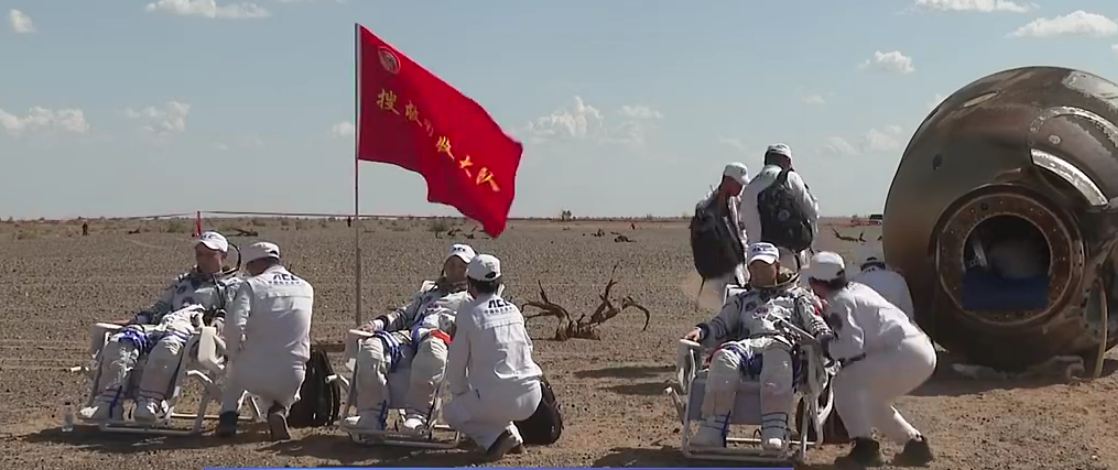 Chinese astronauts land after historic 3-month mission to new space station