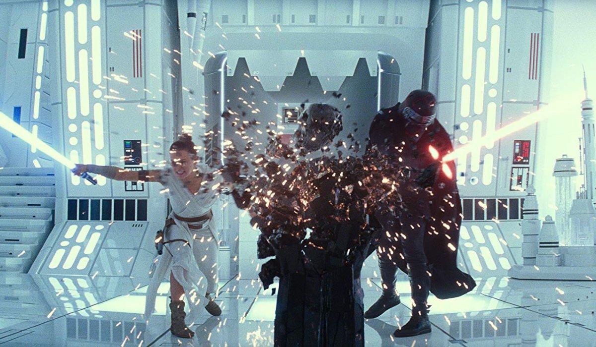 Star Wars: The Rise of Skywalker Rey and Kylo smash Darth Vader's remains