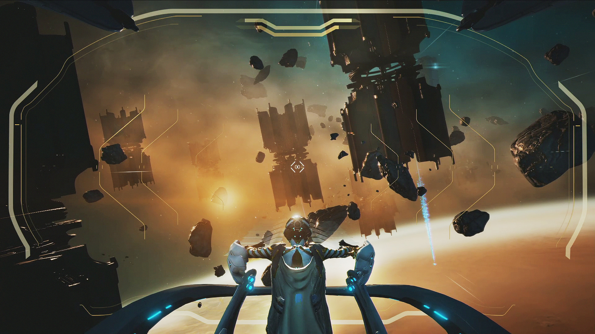 Warframe is getting co-op spaceship combat that looks like a third-person FTL | PC Gamer