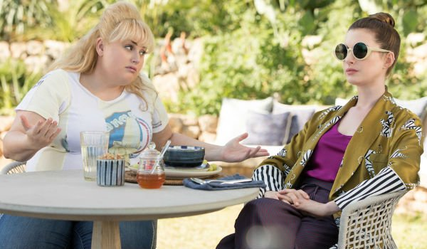 Rebel Wilson and Anne Hathaway in The Hustle