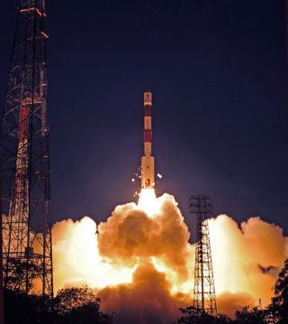 Indian Polar Satellite Launch Vehicle Launch